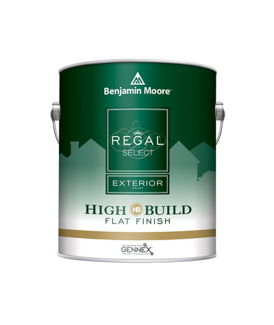 Benjamin Moore Regal Select High Build Flat Exterior Paint Gallon, available at Creative Paint in San Francisco, South Bay & East Bay.