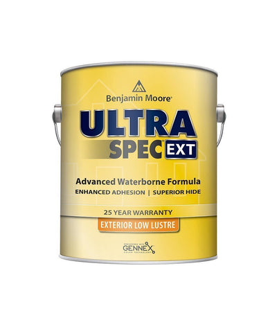 Benjamin Moore Ultra Spec EXT exterior paint in low lustre finish available at Creative Paint in San Francisco, South Bay & East Bay.