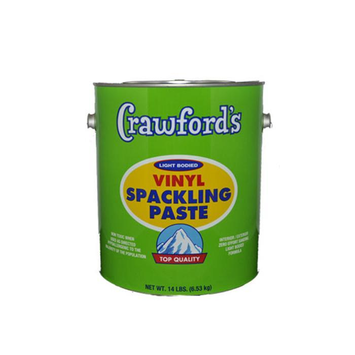 Crawford's vinyl spackling paste, available at Creative Paint in San Francisco, South Bay & East Bay.