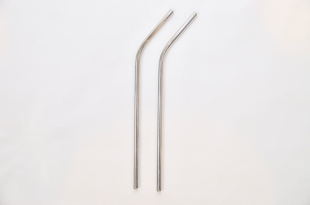 2 Stainless Steel Straw - Bent