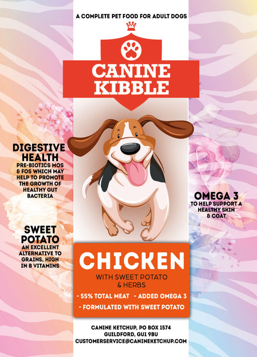 Canine Kibble Adult - Chicken with Sweet Potato and Herbs - 12kg