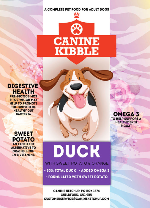 Canine Kibble Adult - Duck with Sweet potato and Orange - 12kg
