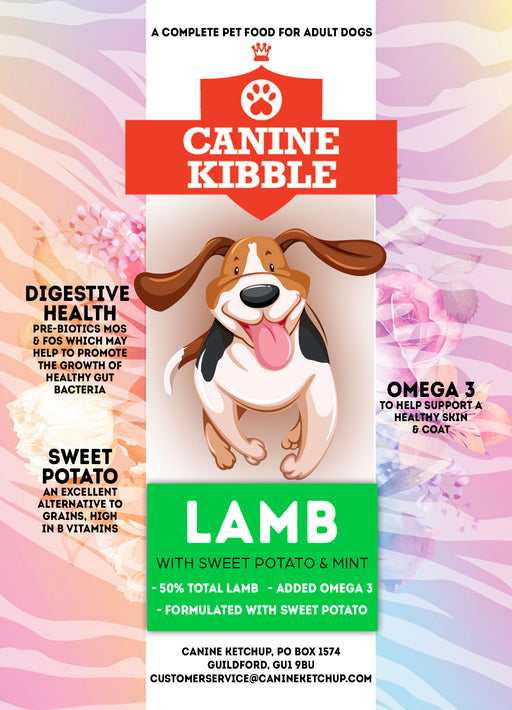 Canine Kibble Adult - Lamb with Sweet Potato and Mint - 12kg