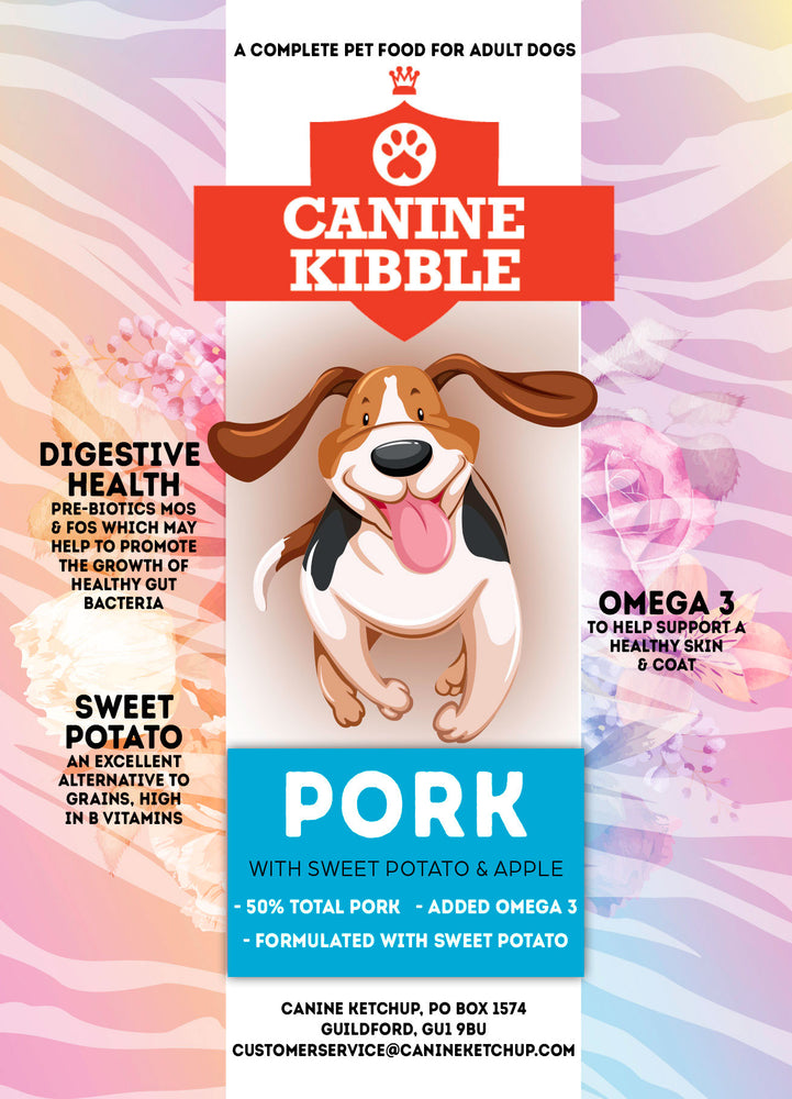 Canine Kibble Adult - Pork with Sweet Potato and Apple - 12kg