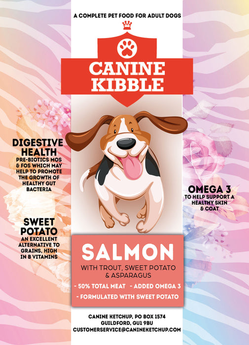 Canine Kibble Adult - Salmon with Trout, Sweet Potato and Asparagus - 12kg