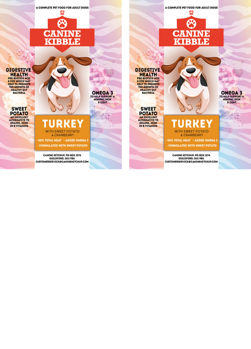 Canine Kibble Adult - Turkey with Sweet Potato and Cranberry - 12kg