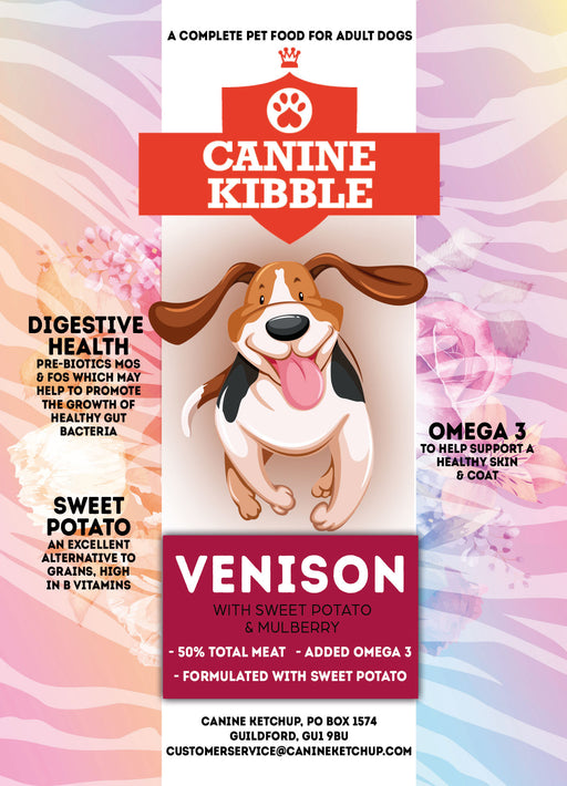 Canine Kibble Adult - Venison with Sweet Potato and Mulberry -  12kg