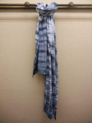 Hand Tie Dye Cotton Scarf: Grey