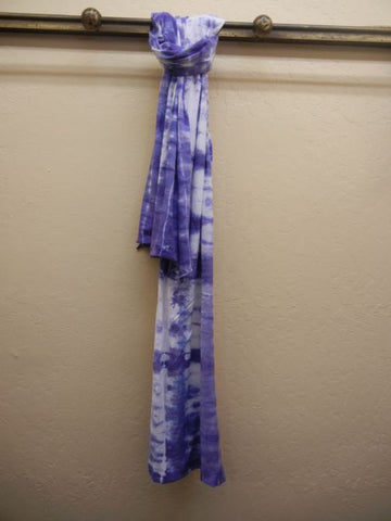 Hand TieDyed Cotton Scarf: Purple
