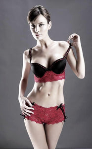 Pink Cami Bra Top with Boyshort by Sensual Mystique Lingerie- Studio Europe