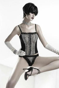 Mesh Bustier With Thong by Sensual Mystique Lingerie- Studio Europe