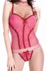 Sheer Camisole with Panty by Sensual Mystique Lingerie- Studio Europe