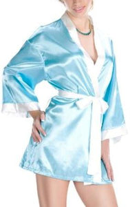 Satin Robe with Contrast Cuff by Sensual Mystique Lingerie- Studio Europe