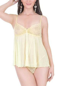 Lace Babydoll Top with G String by Sensual Mystique Lingerie- Studio Europe