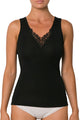 Pure Wool Vest with with Guippure Lace Motif - Studio Europe