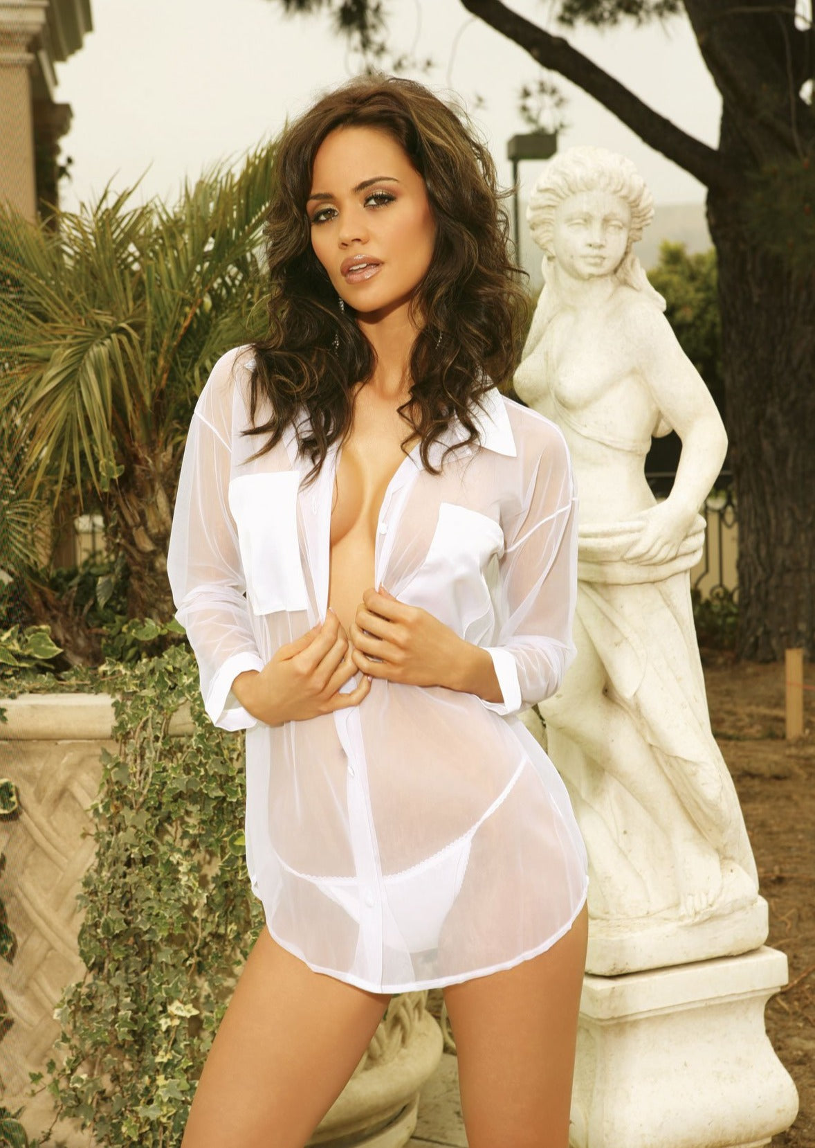 Sheer Nightshirt Set