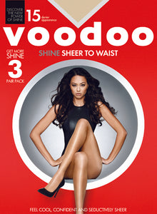 Shine Sheer to Waist Pantyhose (3 Pair) by Voodoo- Studio Europe
