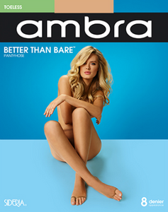 Better Than Bare Toeless Pantyhose by Ambra Hosiery- Studio Europe