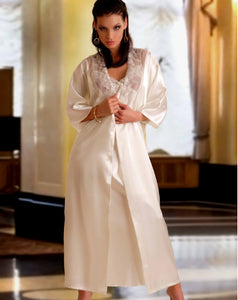 Anna Long Satin Dressing Gown - Studio Europe