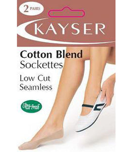 Cotton Blend Sockette 2 Pair Pack - Studio Europe