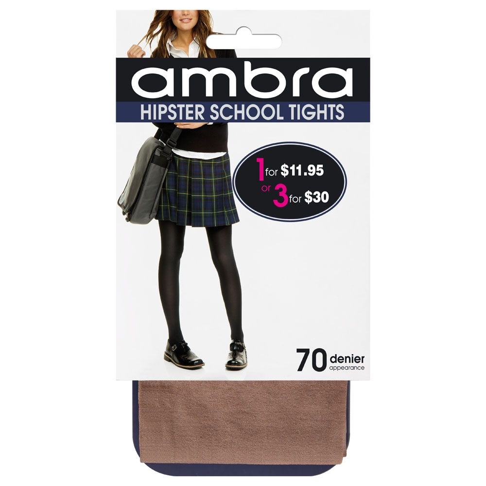 3 pack Hipster School Tights - Studio Europe