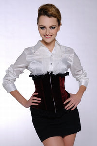 Red Velvet Underbust Corset - Studio Europe