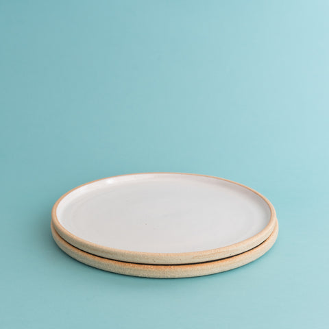 Side Plate - White Gloss Sand