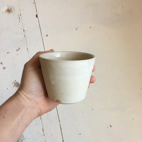 White Stone Flat White Cup