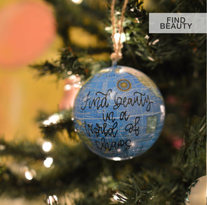 "Ornaments // 3.25"" World Globe"