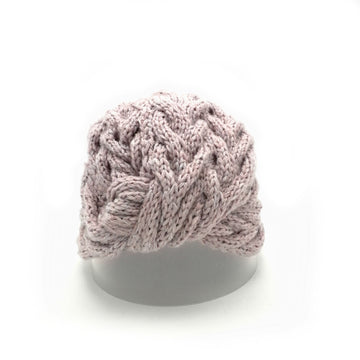 Peachy Plum Turban with bolt pattern