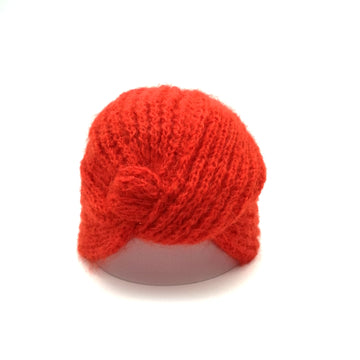 Red Mohair Turban