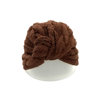 Brown bolt pattern turban
