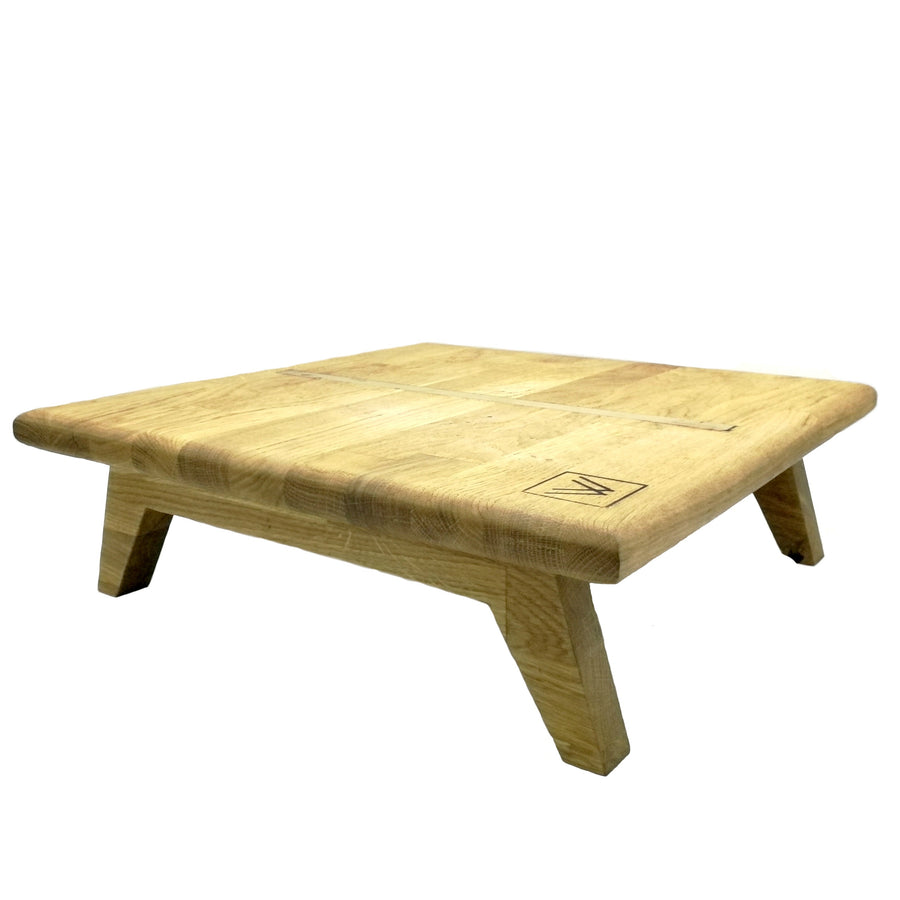 Oak wood bed table