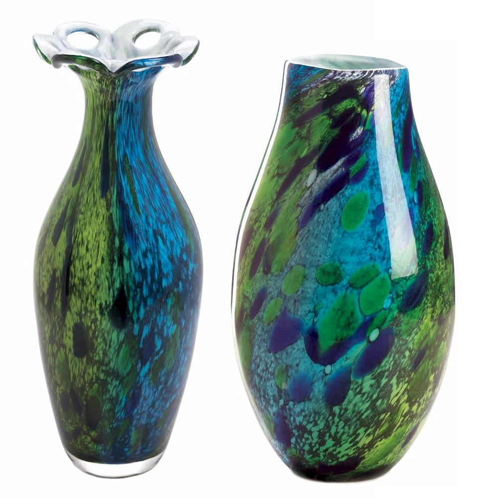 Handcrafted Peacock Vase Collection