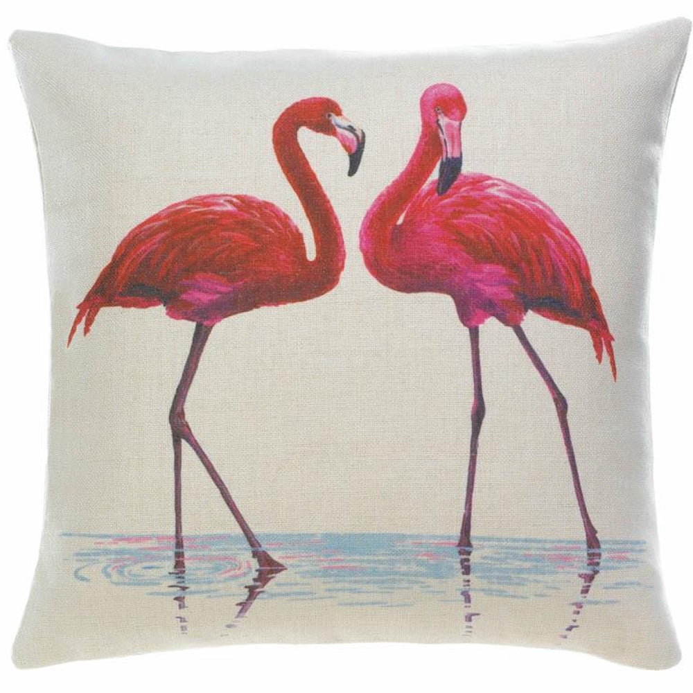 Flamingo Couple Pillow