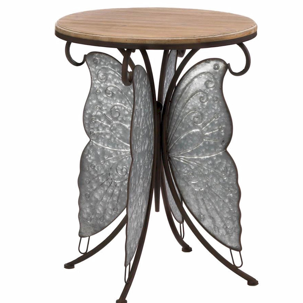 Industrial Butterfly Accent Table