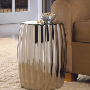 High Shine Silver Stool