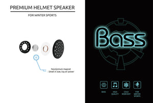 BR01: Premium Snow Helmet Speakers