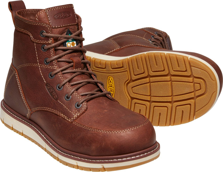 "KEEN San Jose 6"" Aluminum Safety Work Boots, Non-Marking Rubber Outsole"