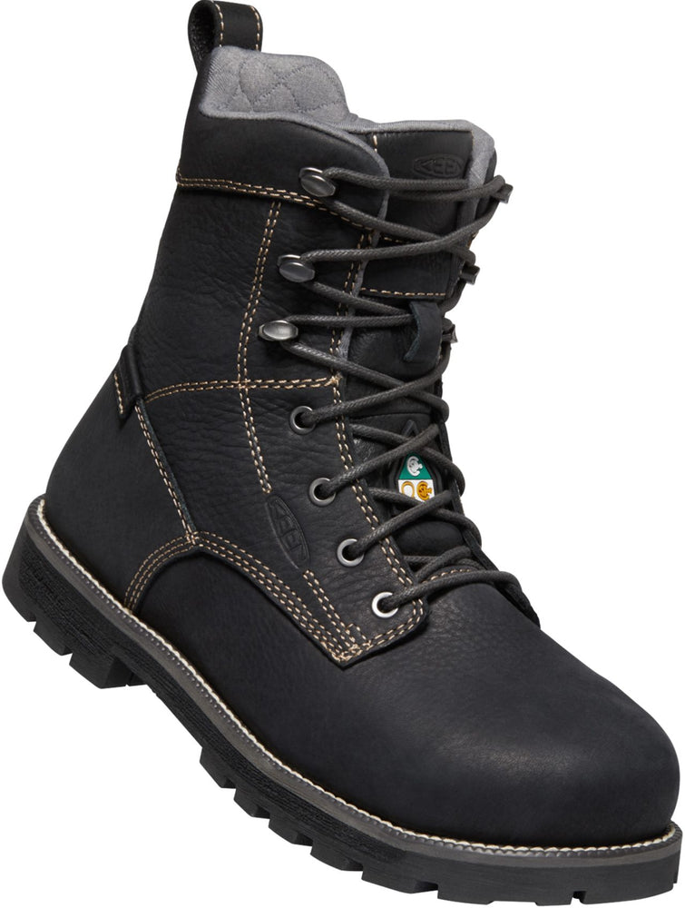 "Keen CSA Seattle 8"" Work Boots For Women With Slip-Resistant Outsole"