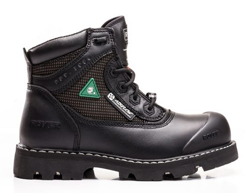 "ROYER 6"" Composite Toe Black Leather Work Boot"