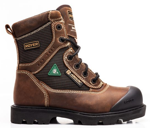 "ROYER 8"" Composite Toe Brown Leather Work Boot"