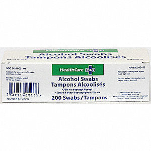 HEALTHCARE PLUS Alcohol Swab Wipes