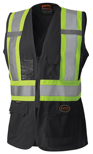 PIONEER HI-VIZ Women's Safety Vest (Black)