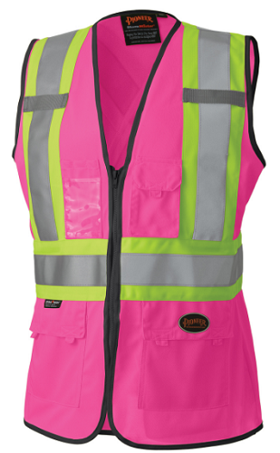 PIONEER HI-VIZ Women's Safety Vest (Pink)