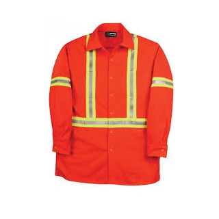 BIG BILL Fire Retardant Hi Viz Twill Work Shirt