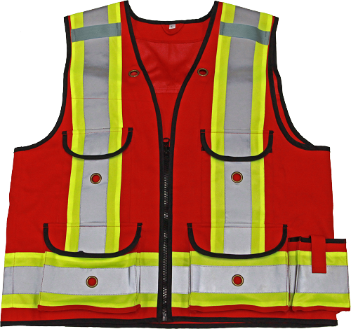 VIKING All-Trades 1000D Red Surveyor Safety Vest