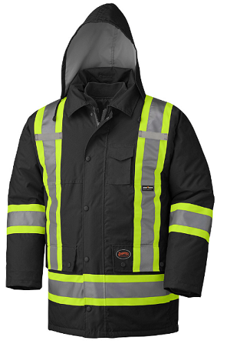 PIONEER Hi-Viz 100% Waterproof 6-in-1 Parka (Black)