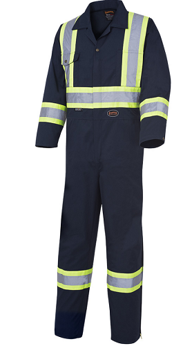 "Pioneer 4"" Reflective Work Coverall w/ Zip (Tall Inseam)"