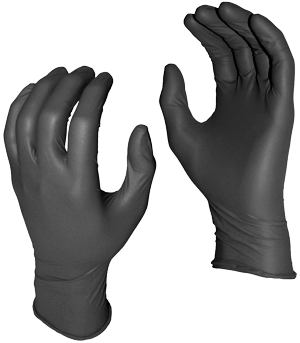 GREASE MONKEY Black Nitrile Disposable Glove Powder Free